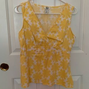 Yellow V Neck top